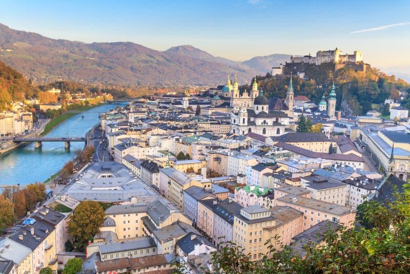 萨尔茨堡(奥地利)市内贫民区 免版税库存图片