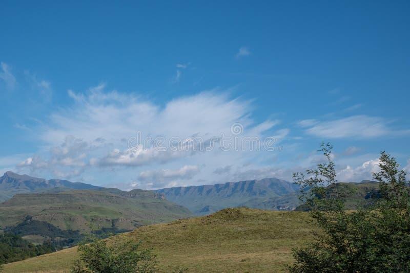 萨尼通行证,非常连接南非到莱索托的高山通行证 免版税图库摄影