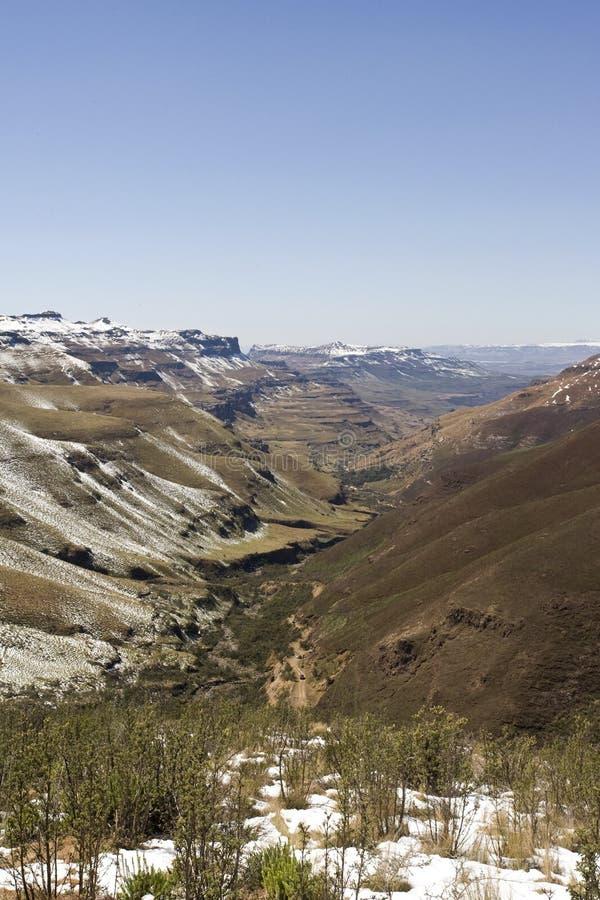萨尼通行证, Drakensbergen,南非 库存图片