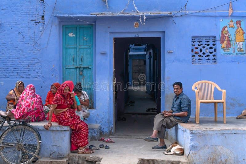萨德里/印度12 07 2019年:萨德里美丽的街道  免版税库存图片