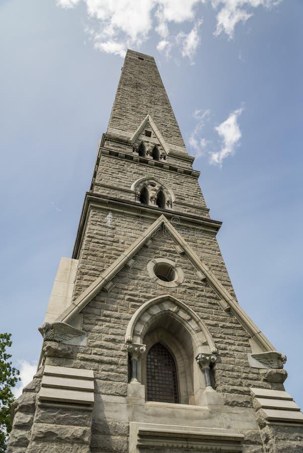 萨拉托加纪念碑,石方尖碑在萨拉托加NY,美国 免版税库存照片