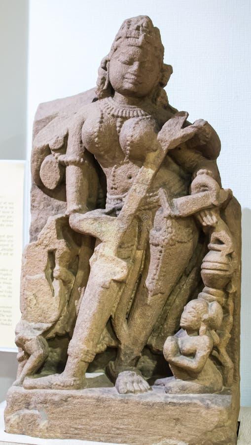 萨拉斯瓦蒂石雕塑印度 免版税库存照片