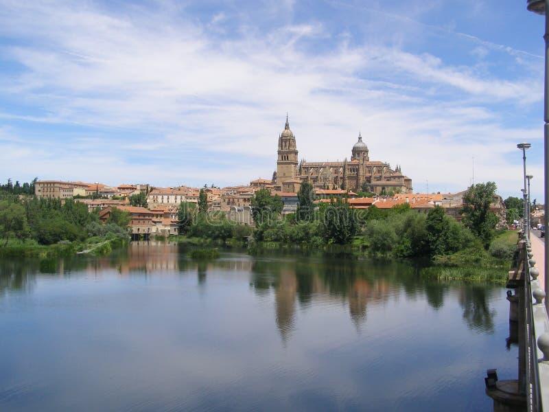 萨拉曼卡,萨拉曼卡西班牙大教堂  免版税库存图片