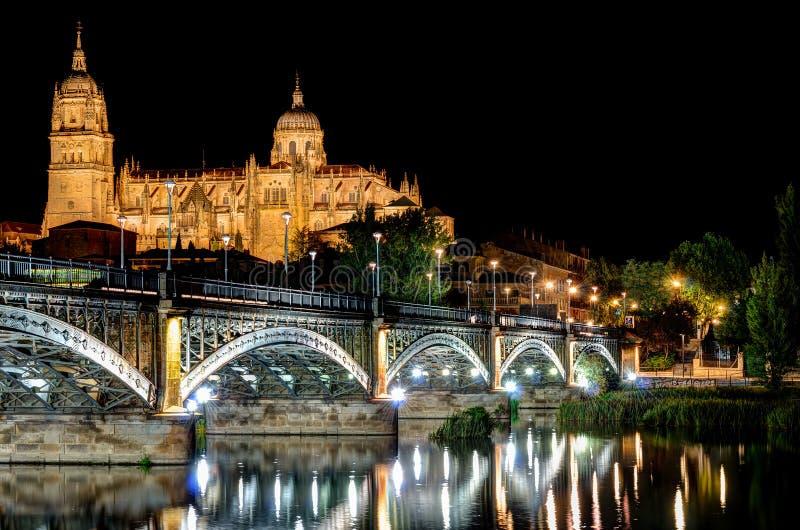 萨拉曼卡,西班牙大教堂  免版税库存照片