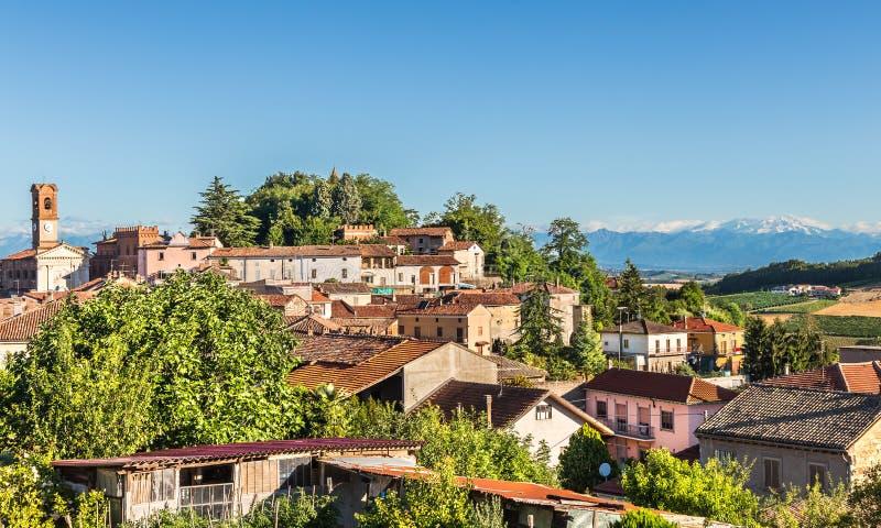 萨拉蒙费拉托,意大利村庄  库存图片
