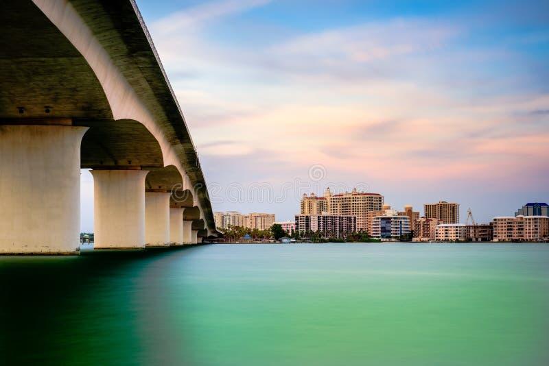 萨拉索塔佛罗里达海湾 免版税图库摄影