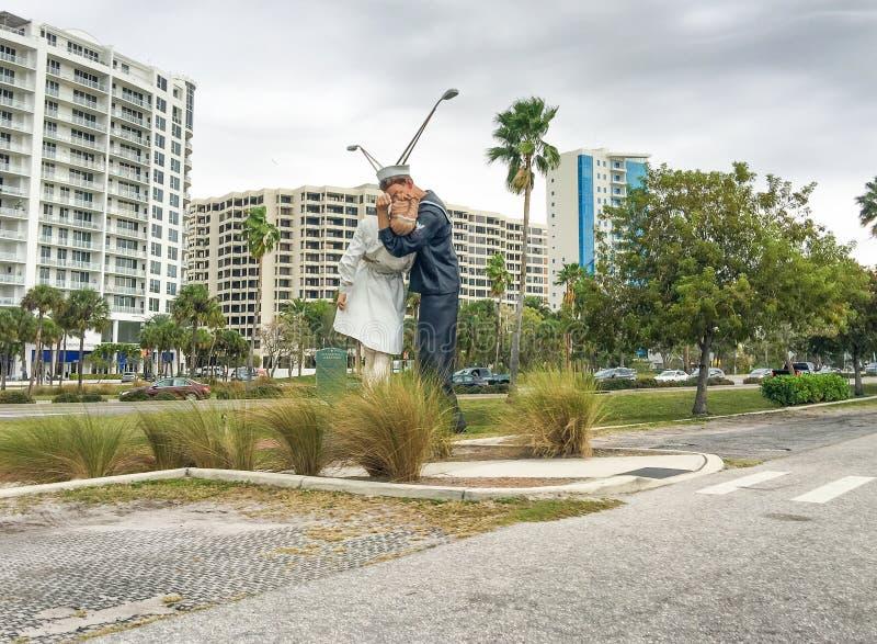 萨拉索塔,佛罗里达- 2016年2月:Uncondition全景  免版税图库摄影