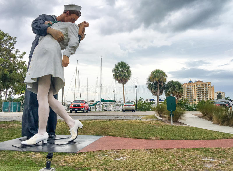 萨拉索塔,佛罗里达- 2016年2月:Uncondition全景  免版税库存图片