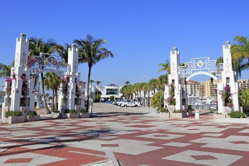 萨拉索塔Bayfront入口 库存照片