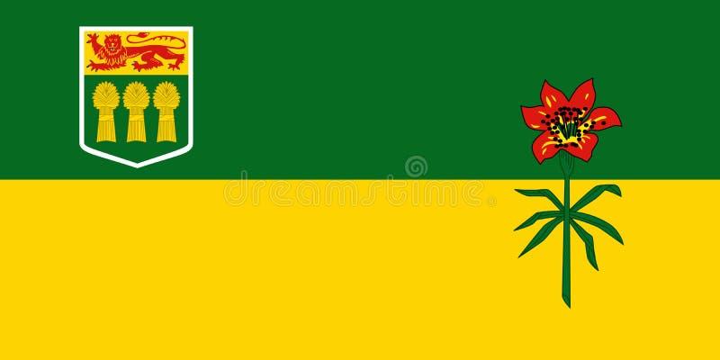 萨斯喀彻温省省加拿大传染媒介旗子  萨斯卡通,雷日纳 向量例证
