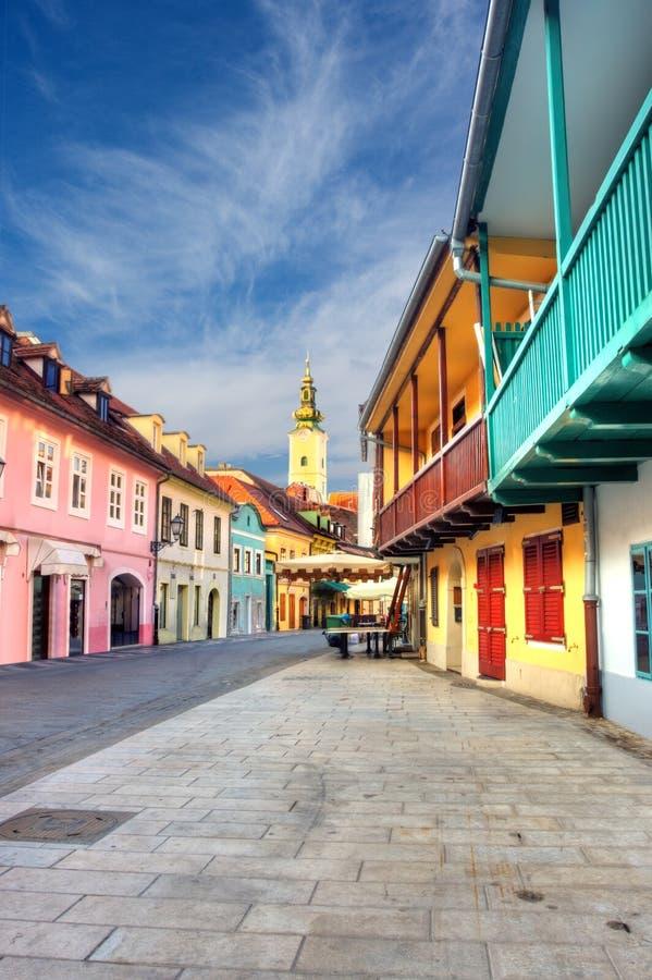 萨格勒布。克罗地亚。 免版税图库摄影