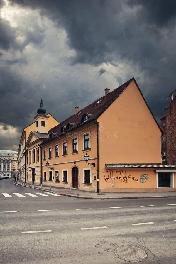 萨格勒布。 克罗地亚。 免版税库存照片