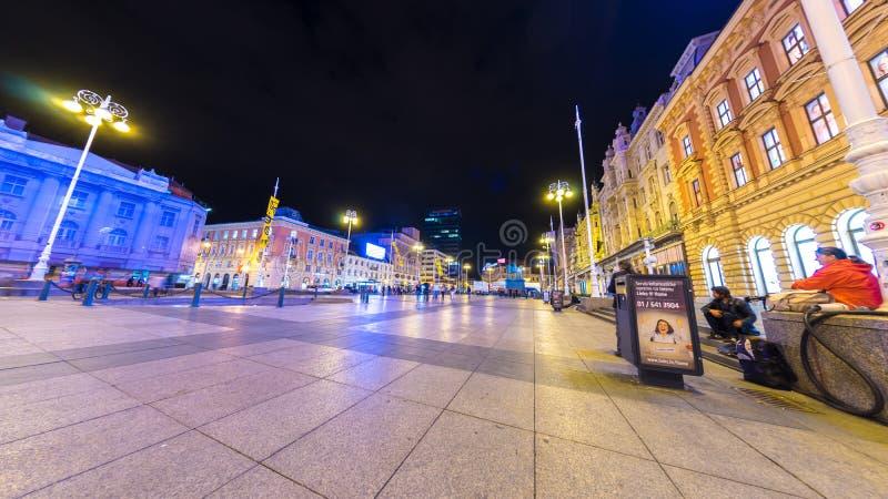 萨格勒布主广场 免版税库存照片