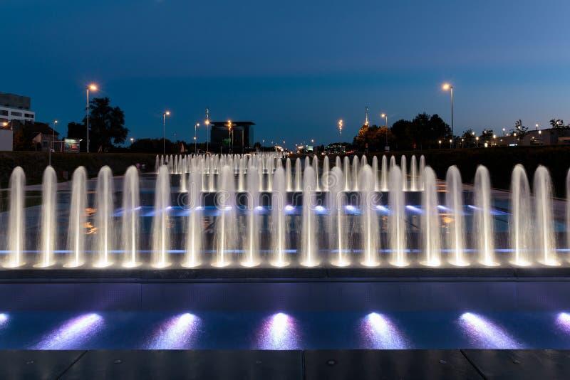 萨格勒布喷泉 免版税图库摄影