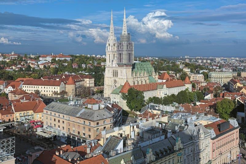 萨格勒布大教堂,克罗地亚 免版税库存照片