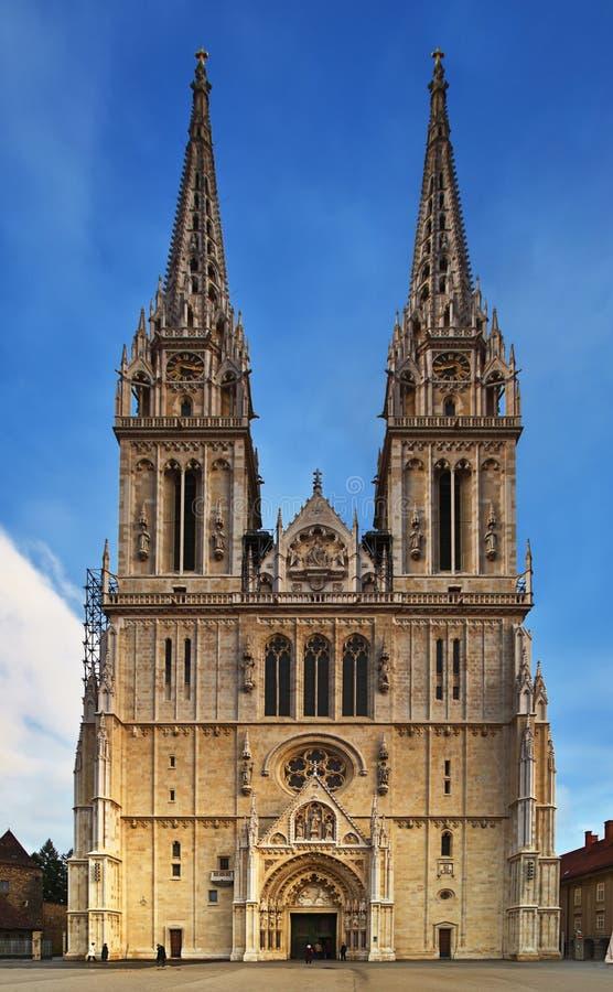 萨格勒布大教堂 免版税图库摄影