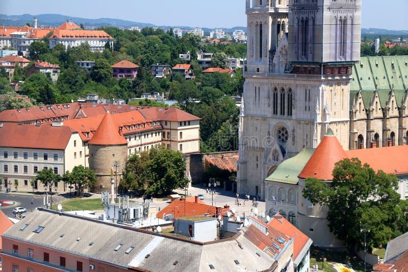 萨格勒布大教堂 库存照片