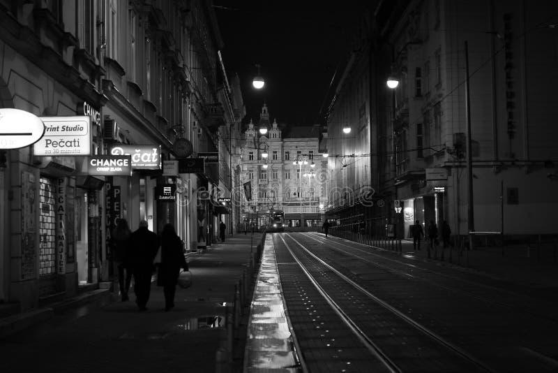 萨格勒布市中心街道 免版税库存图片