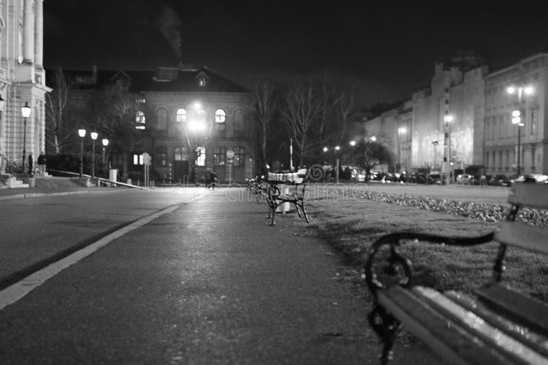萨格勒布市中心街道 免版税图库摄影