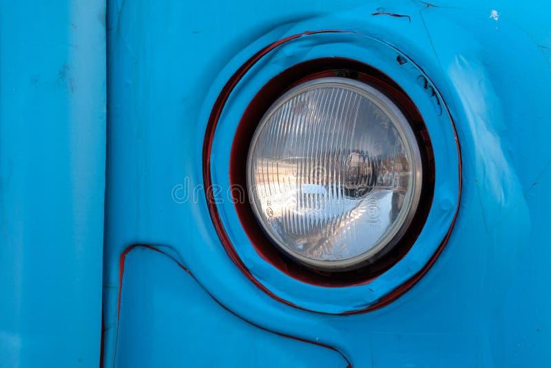 萨格勒布,一个老公共汽车灯笼 免版税库存照片