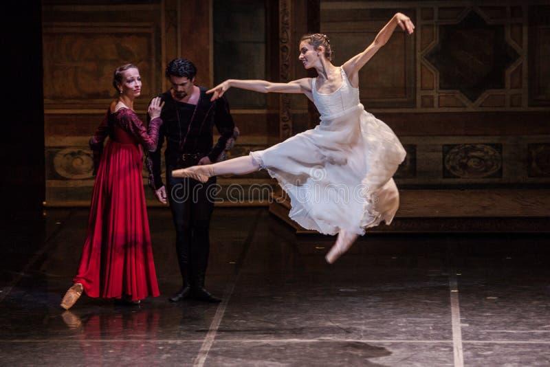 萨格勒布,克罗地亚- 2月15 2018年 罗密欧和朱丽叶芭蕾 库存图片