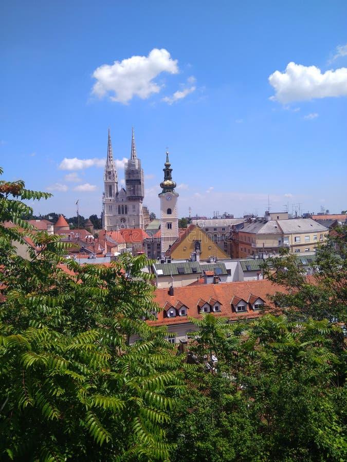 萨格勒布,克罗地亚 免版税库存照片