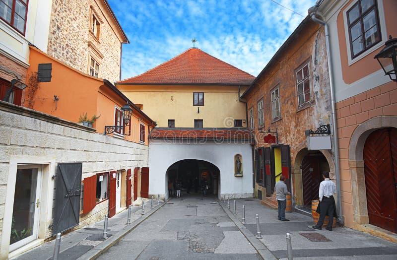 萨格勒布,克罗地亚 库存照片