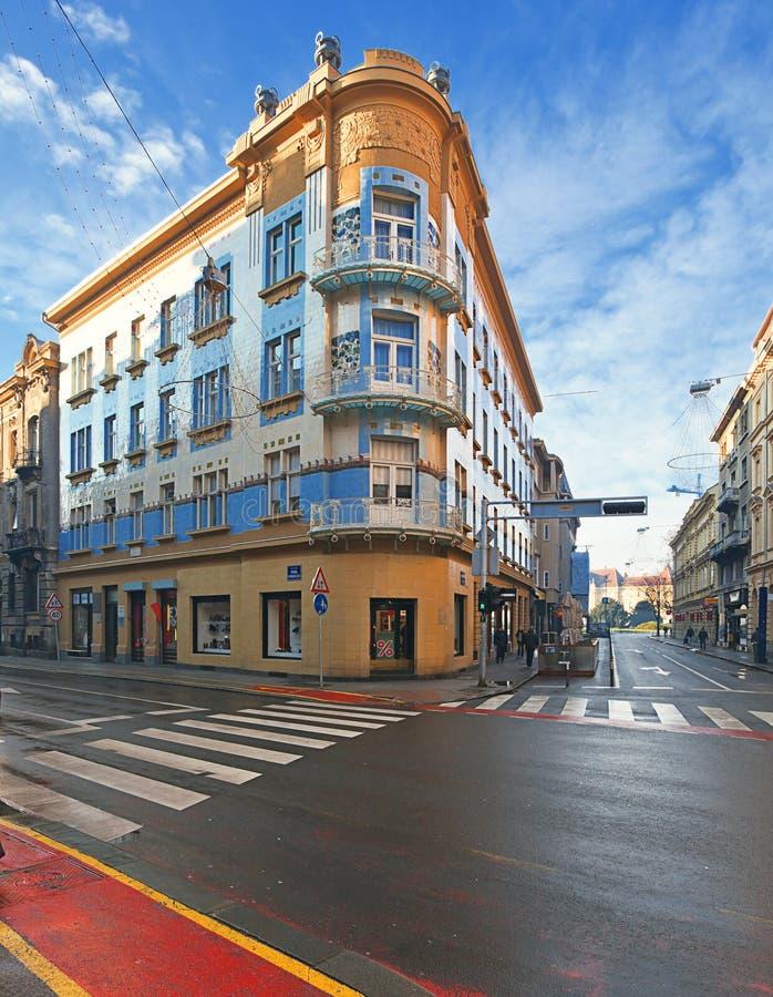 萨格勒布建筑学  克罗地亚 库存照片