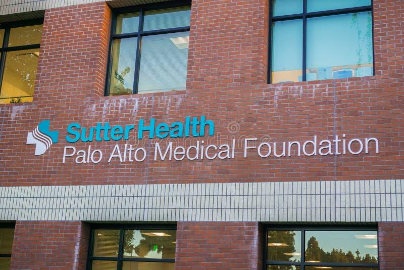 萨特健康帕洛阿尔托医疗基础设施 免版税库存图片