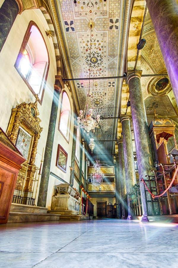 萨瑟克圣乔治主教座堂,伊斯坦布尔,土耳其 免版税库存照片