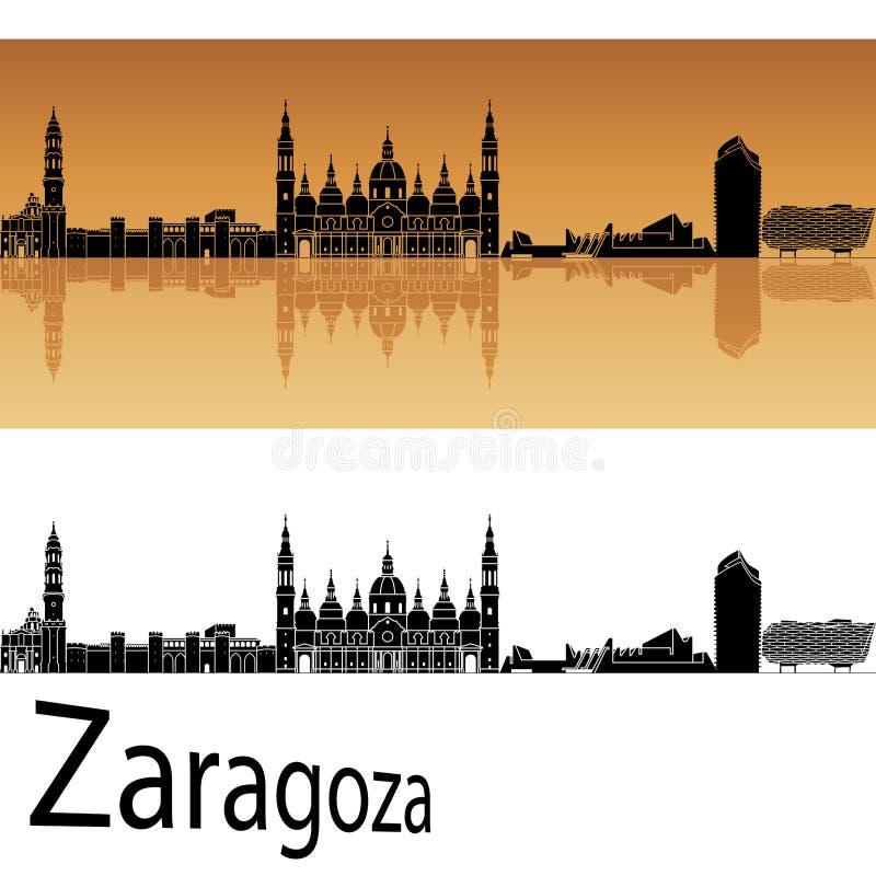 萨瓦格萨地平线在橙色背景中 皇族释放例证
