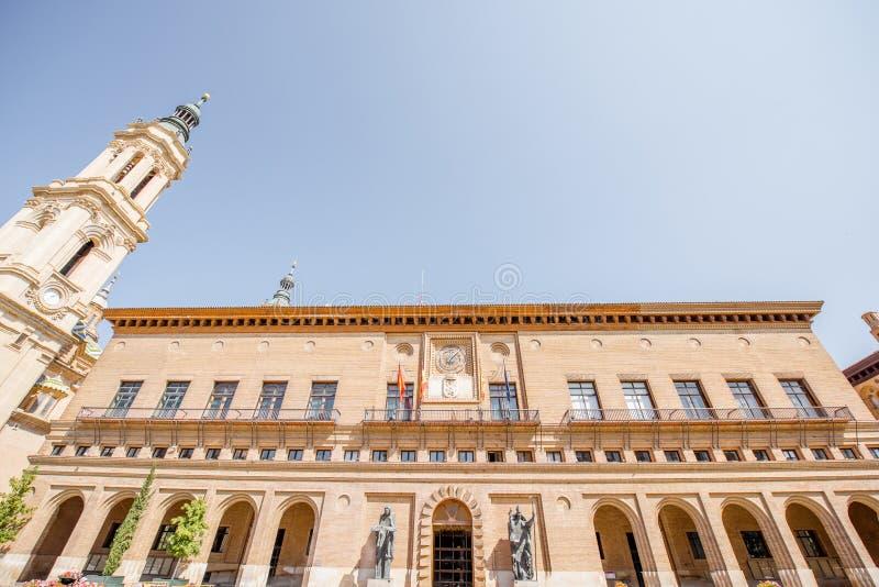 萨瓦格萨市在西班牙 免版税库存图片