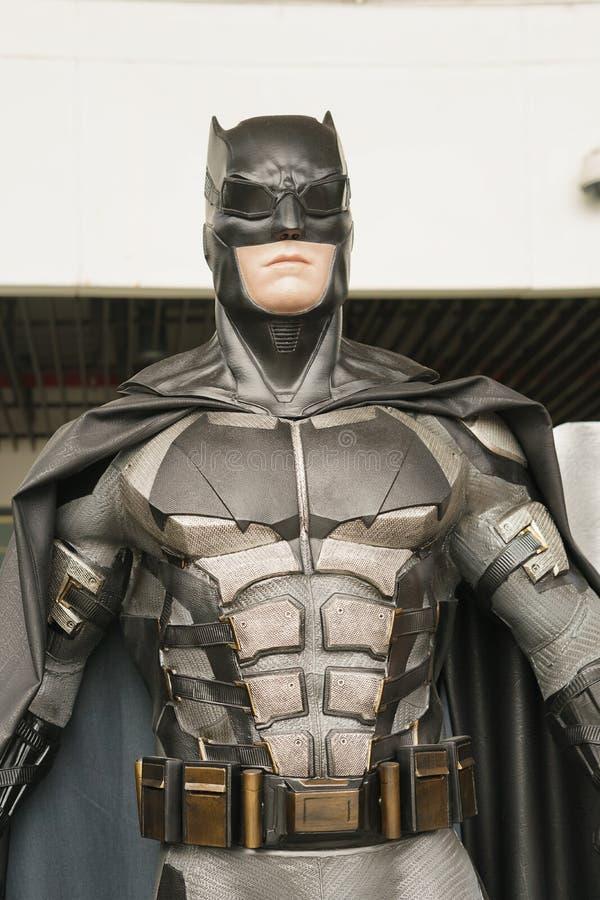 萨穆特PRAKAN,泰国- 2017年11月21日-蝙蝠侠模型从电影正义联盟的 图库摄影