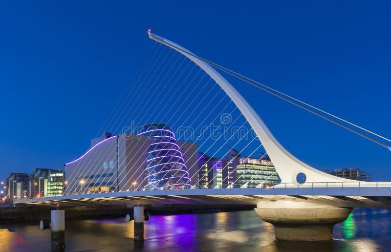 萨缪尔・贝克特桥梁在都伯林,爱尔兰 库存图片