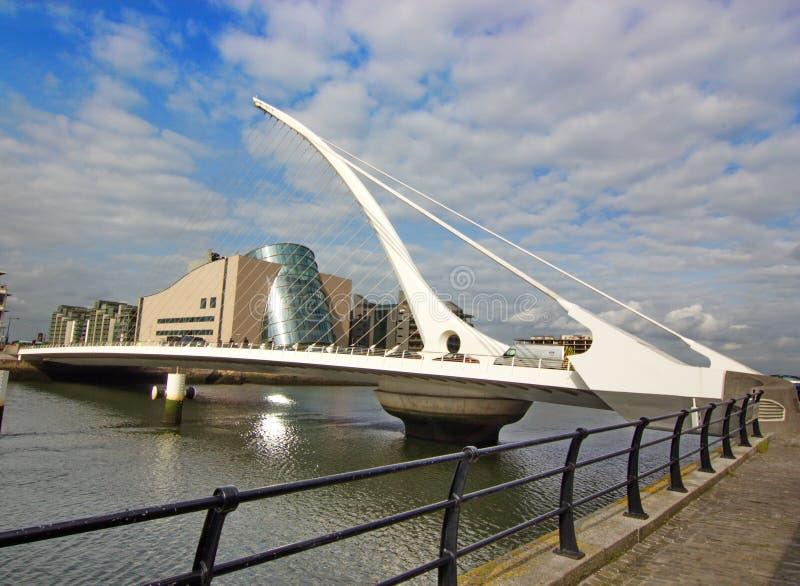 萨缪尔・贝克特桥梁-都伯林,爱尔兰 免版税库存照片