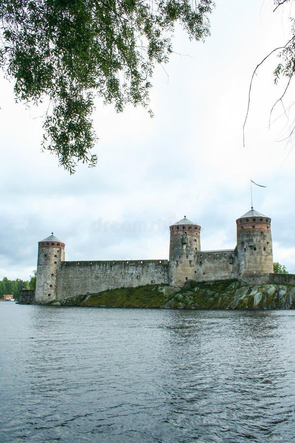 萨翁林纳中世纪城堡 免版税库存图片