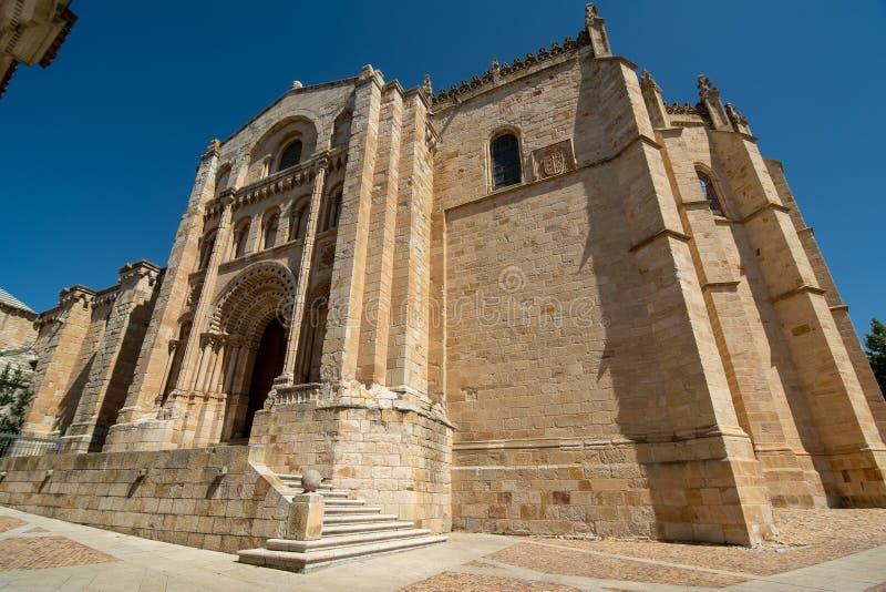 萨莫拉大教堂  库存照片