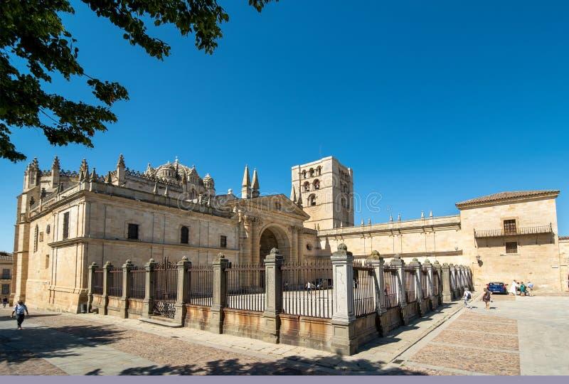 萨莫拉大教堂  免版税库存图片