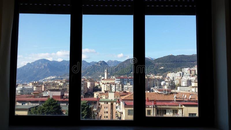 萨莱诺dalla finestra 库存照片