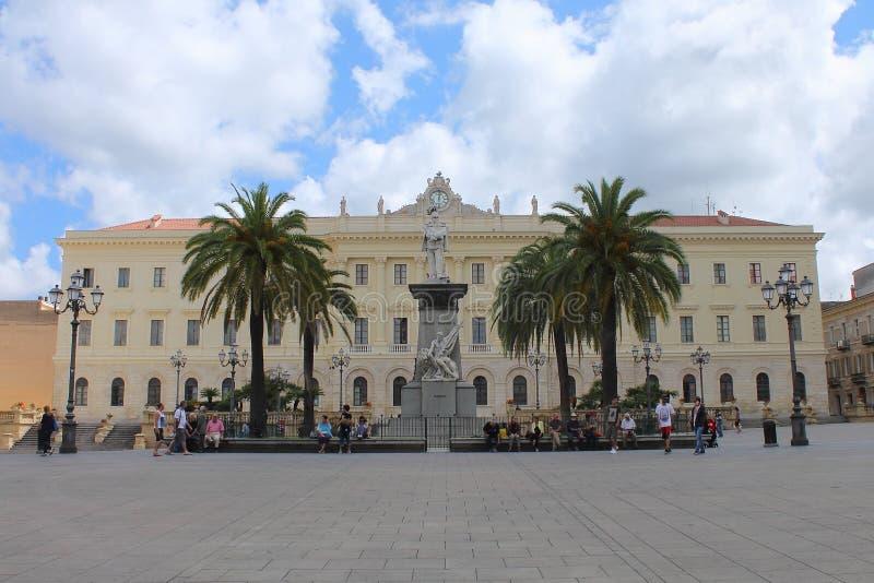 萨萨里` s省萨萨里撒丁岛意大利宫殿  库存照片