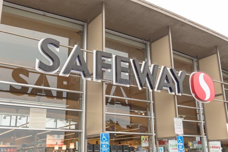 萨费维北部海滩的,旧金山, C超市连锁商店 库存图片