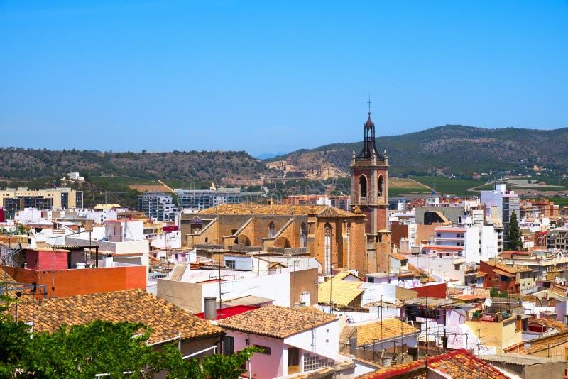 萨贡托,西班牙鸟瞰图  免版税库存图片