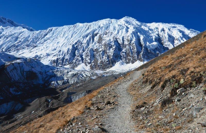 落后的美丽的湖尼泊尔tilicho 库存照片
