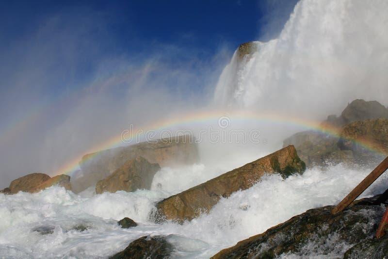 落在彩虹的尼亚加拉 免版税库存照片