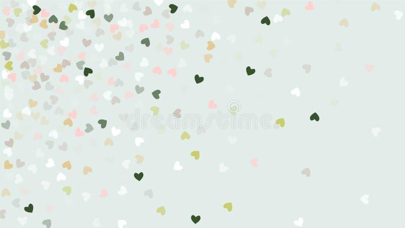 落在背景的美好的五彩纸屑心脏 邀请模板背景设计,贺卡,海报 夫妇日例证爱恋的华伦泰向量 皇族释放例证