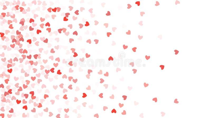 落在背景的美好的五彩纸屑心脏 邀请模板背景设计,贺卡,海报 夫妇日例证爱恋的华伦泰向量 库存例证