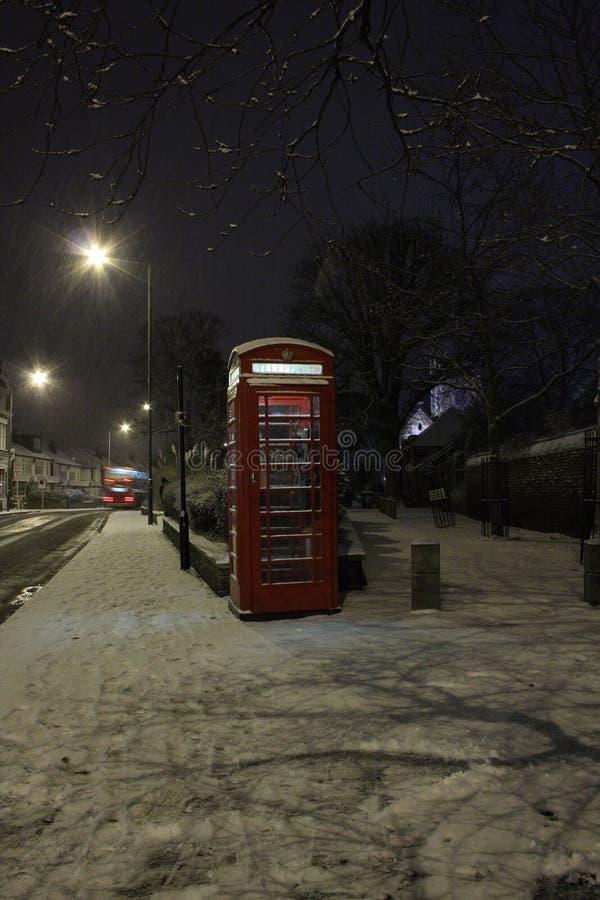 落的伦敦雪 库存图片