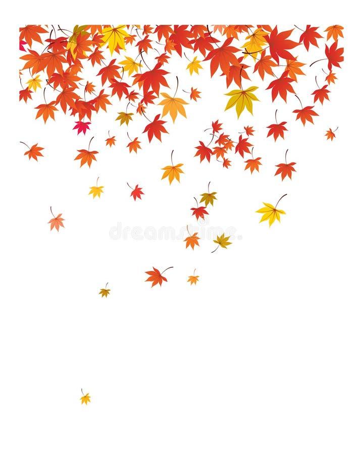 落的叶子背景。 库存例证