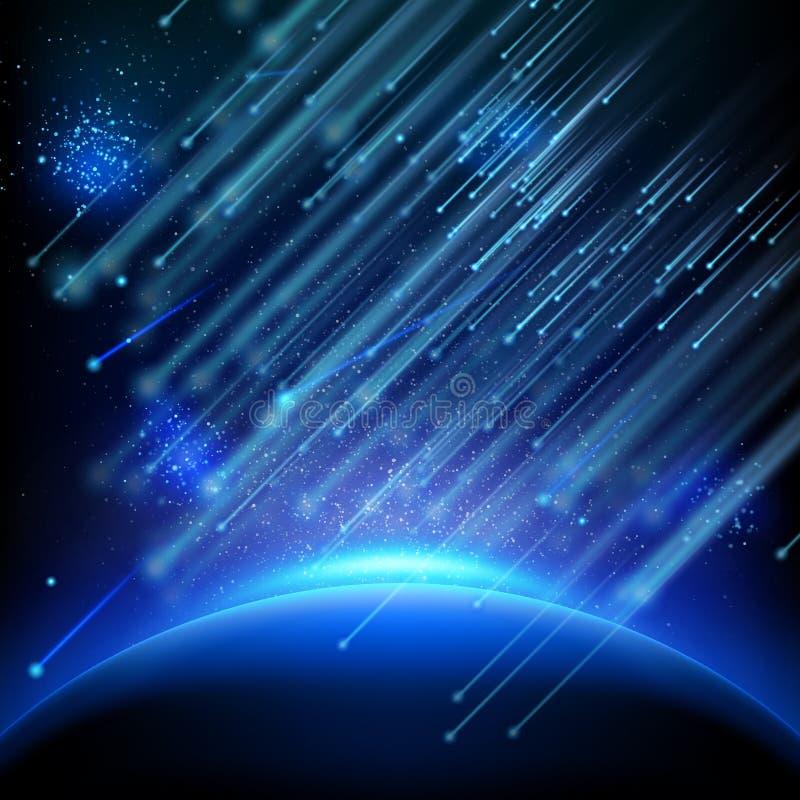 落的小行星 10 eps 库存例证