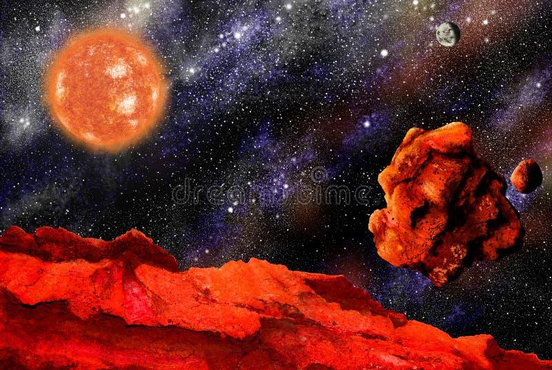 落的巨星石头 向量例证